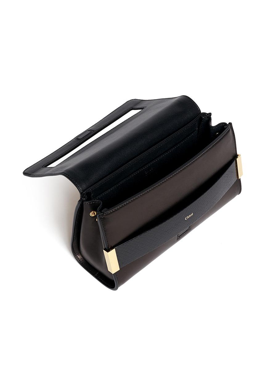 real chloe handbags - Chlo�� \u0026#39;elle\u0026#39; Small Ayers Trim Leather Clutch in White (White,Multi ...