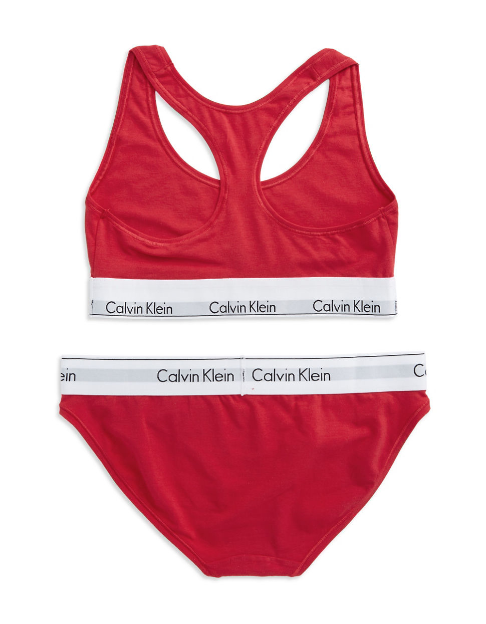 calvin klein lounge bra and bikini set in red lyst. Black Bedroom Furniture Sets. Home Design Ideas