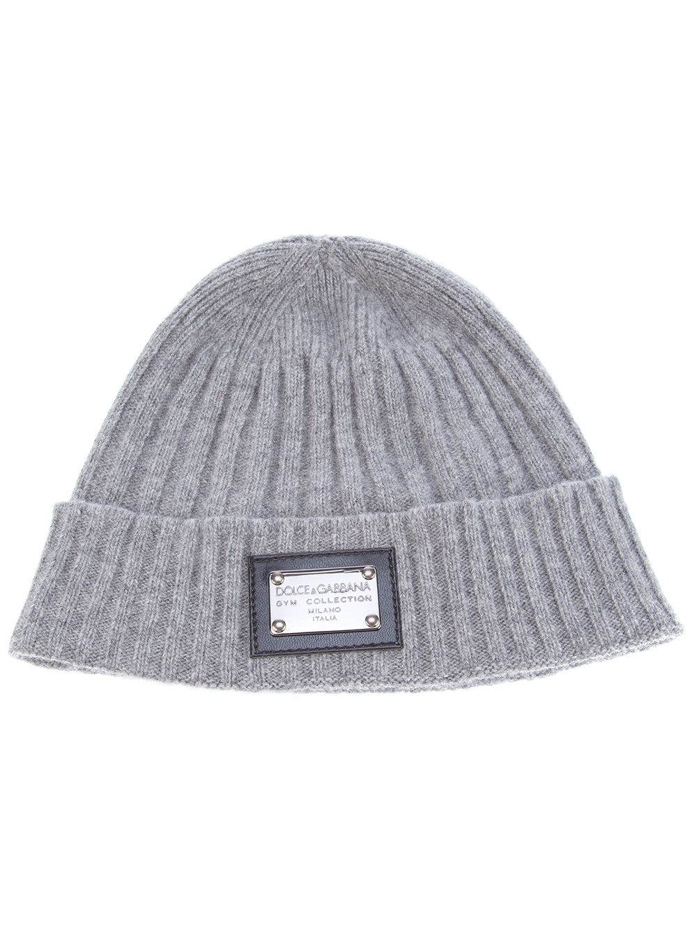 13e3f25d2aa6e Dolce   Gabbana Ribbed Beanie in Gray for Men - Lyst