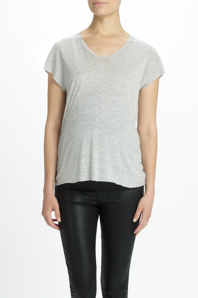 Zoe karssen relaxed fit v neck t shirt in gray lyst Relaxed fit women s v neck t shirt