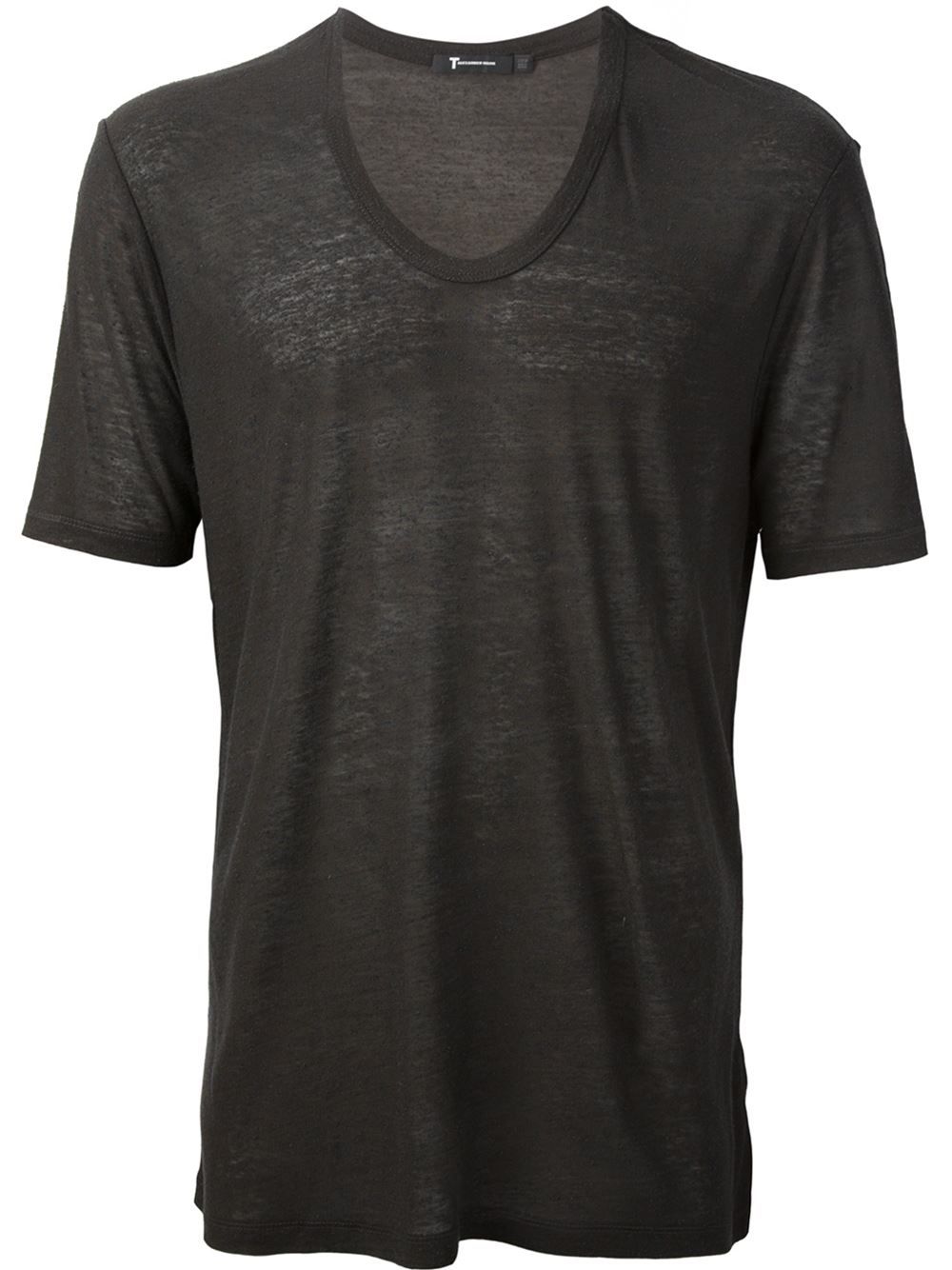 T by alexander wang classic t shirt in black for men grey for Alexander wang t shirts