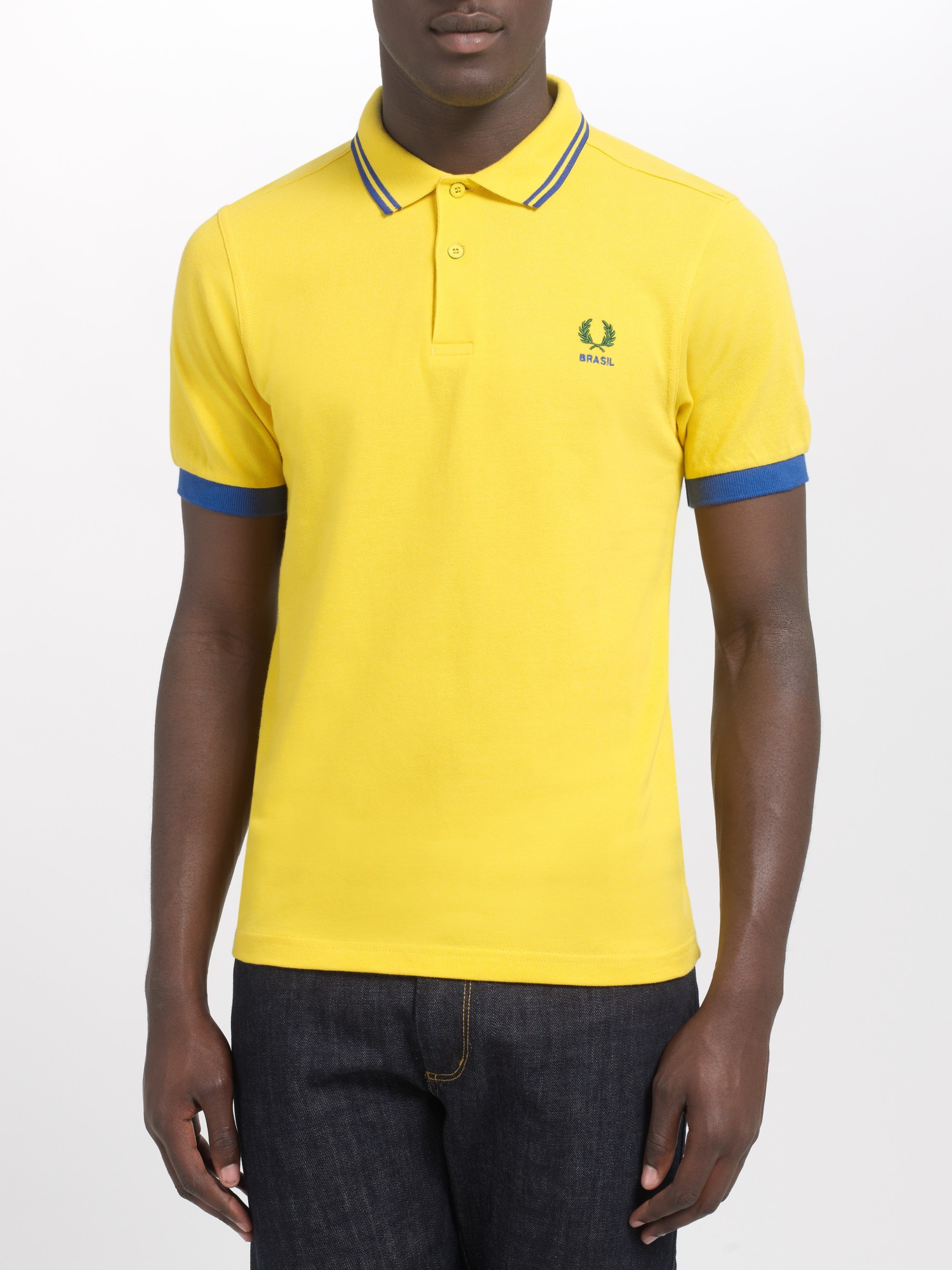 8801c4bca Fred Perry Brazil Country Polo Shirt in Yellow for Men - Lyst
