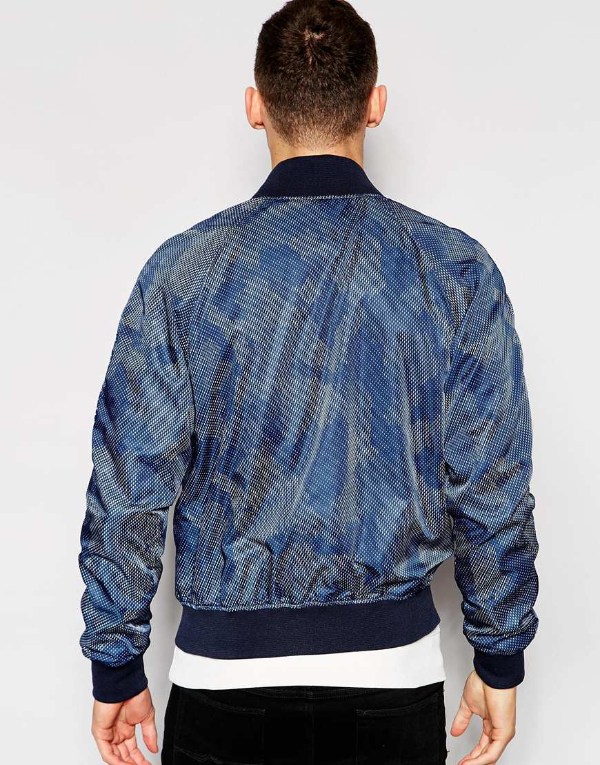 7d9852d1a G-Star RAW Jacket Attacc Bomber All Over Dot Camo Print In Sapphire Blue  for men