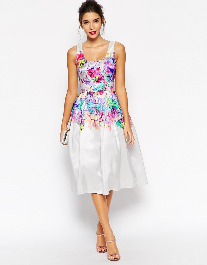 Asos Beautiful Floral Super Full Prom Dress in Multicolor ...