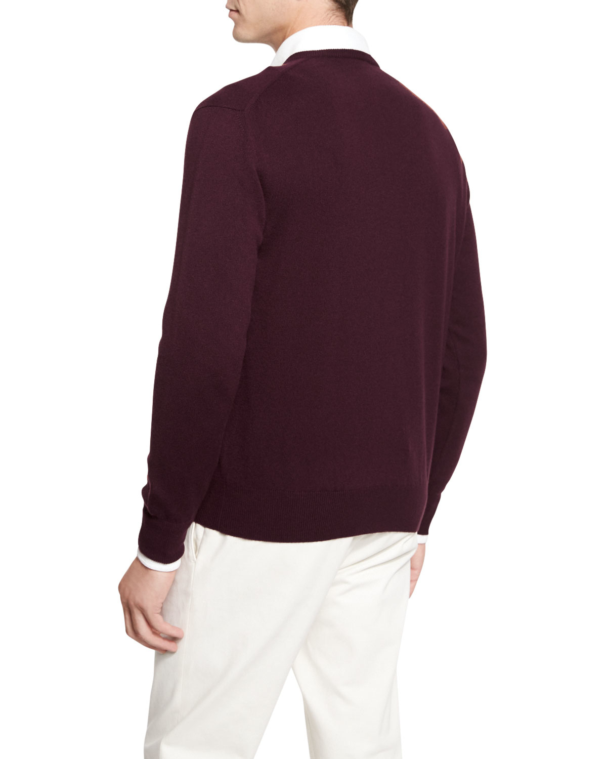 d5bb56aa4d93 Lyst - Loro Piana Baby Cashmere V-neck Sweater in Purple for Men