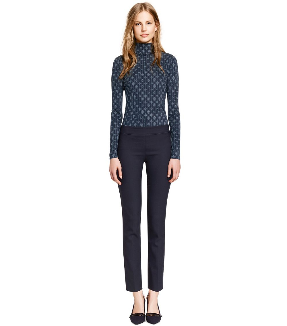 Tory burch vania pant in blue lyst for Tory burch fashion island
