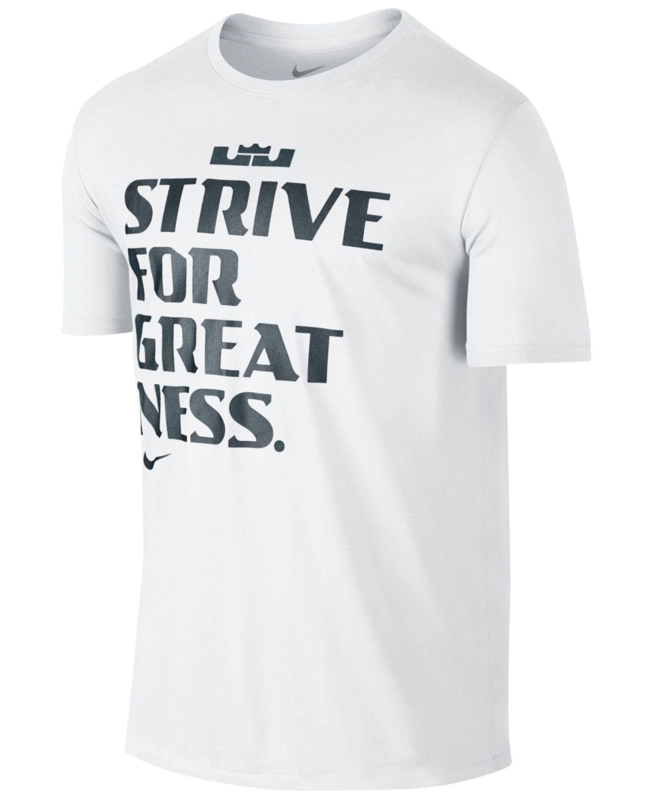 31f005d0d Lyst - Nike Men s Lebron Graphic Dri-fit T-shirt in White for Men