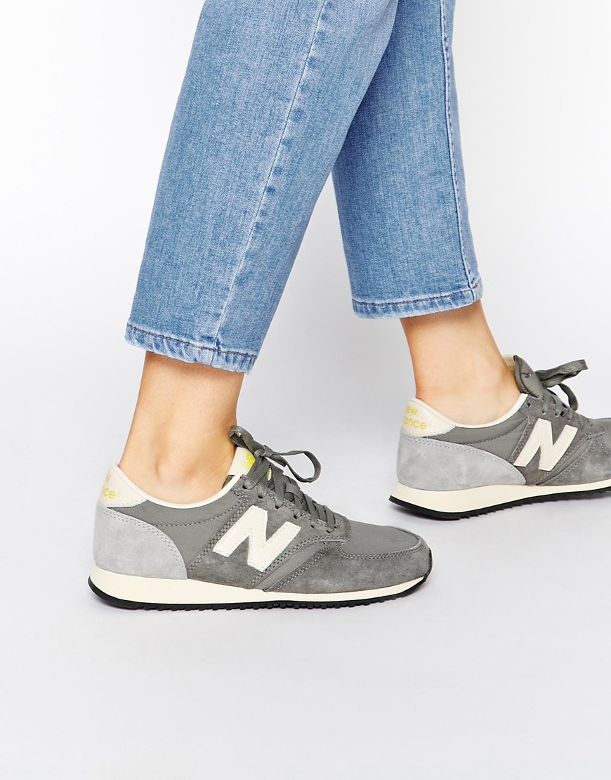 New Balance Suede 420 Grey Vintage Trainers in Gray - Lyst