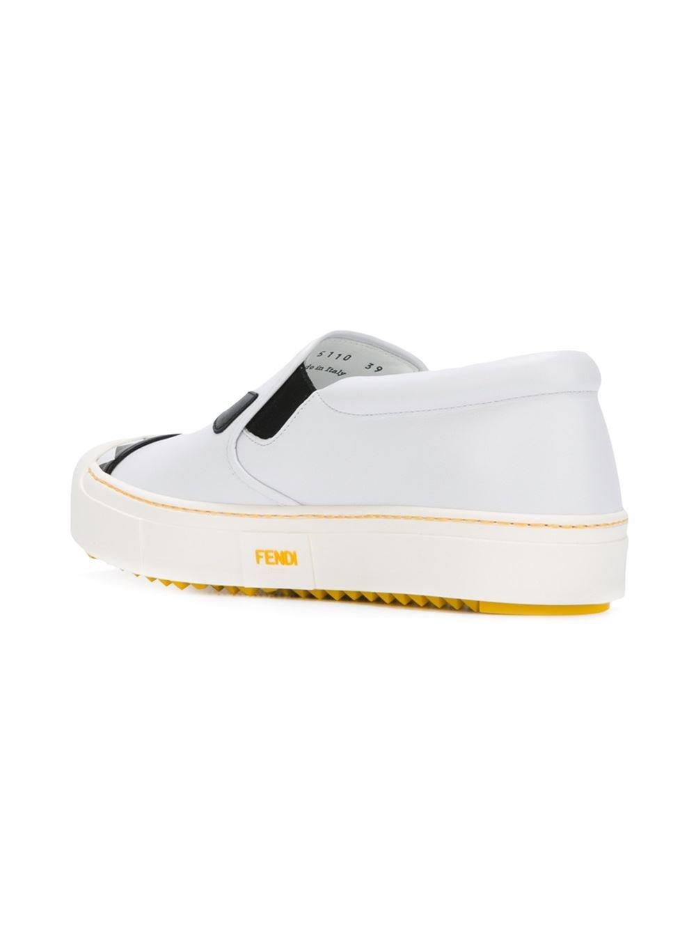 Bag Bugs colour-block sneakers - White Fendi Cheap Sale Amazon Buy Cheap Choice Cheap Prices Cheap Sale Cost VmXFEQ1a3C