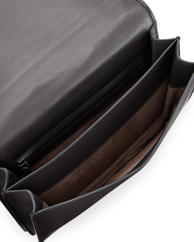 Lyst - Bottega Veneta Intrecciato Medium Woven Clutch Bag in Gray 55145d0324230