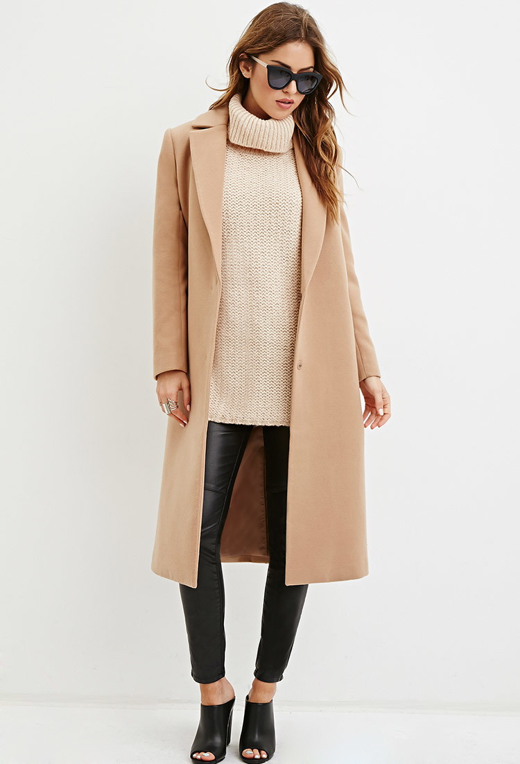 Forever 21 Turtleneck Sweater Vest in Brown | Lyst