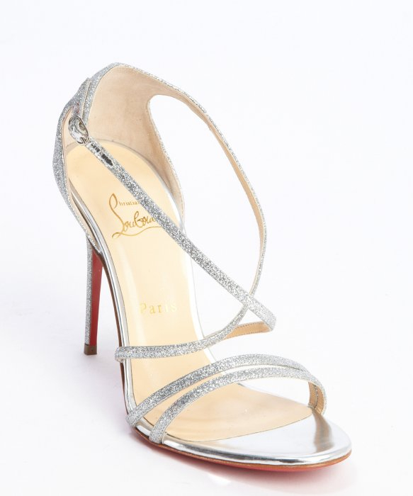 quality design cd11f 09298 sweden christian louboutin silver sandals 4d00e e6ad6