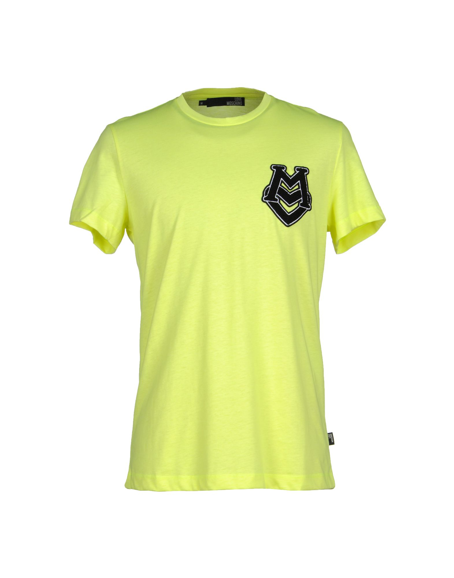 love moschino t shirt in yellow for men lyst. Black Bedroom Furniture Sets. Home Design Ideas