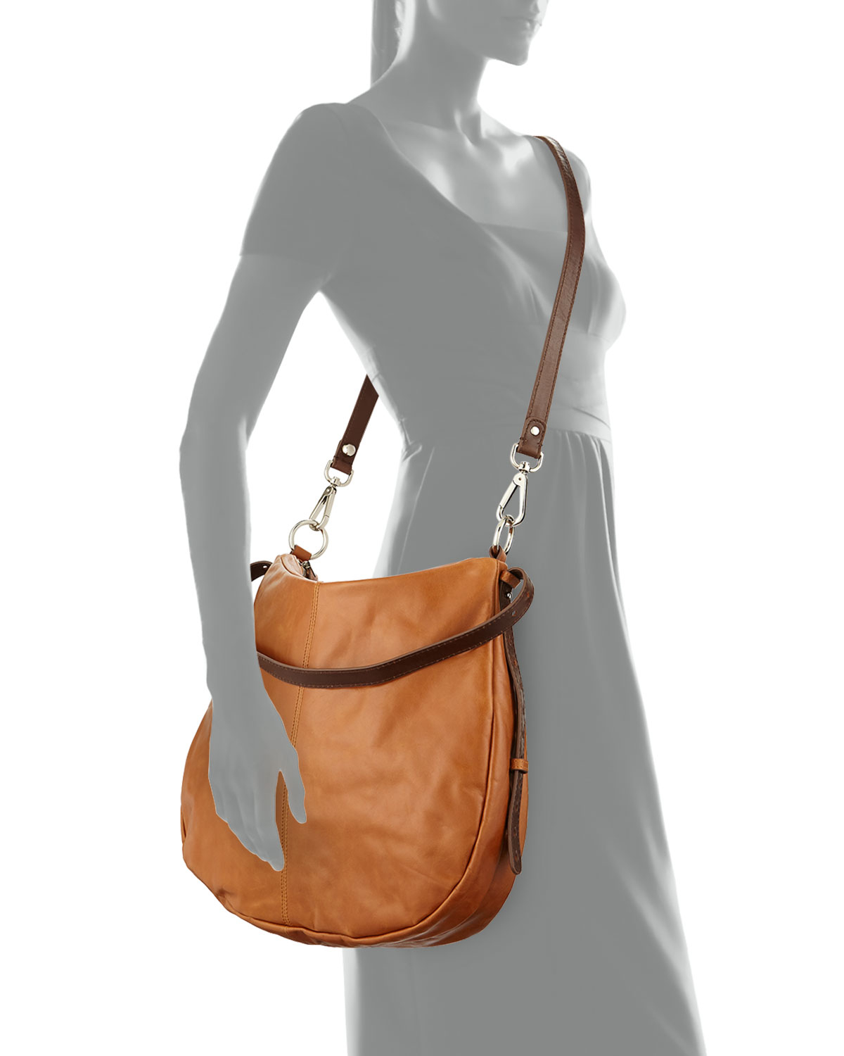 Hobo Kinley Leather Crossbody Bag in Brown | Lyst