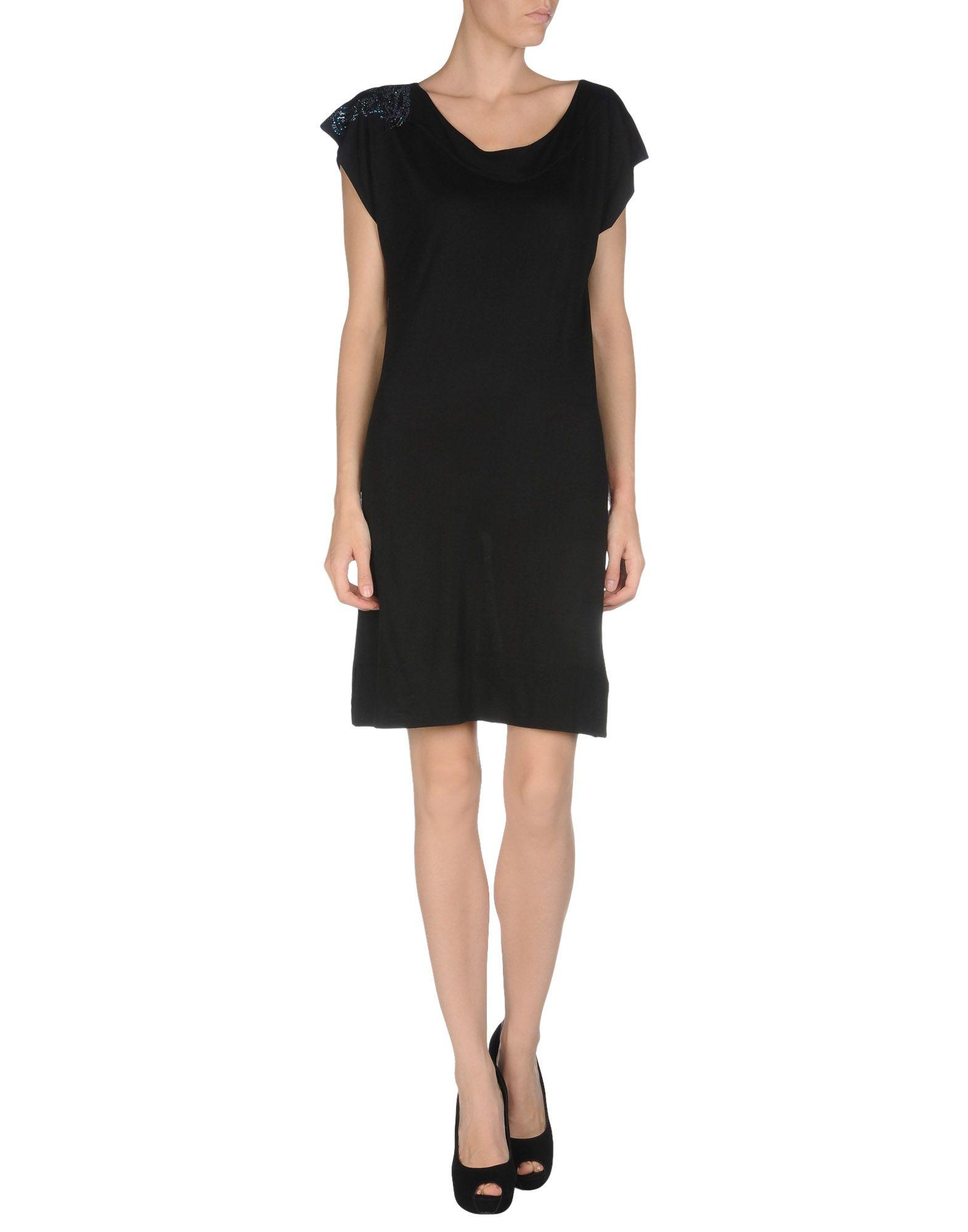 Lyst - Versace Short Dress in Black