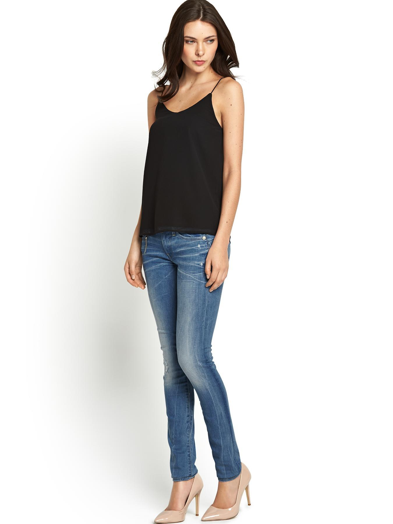 g star raw midge sculpted lift skinny jeans in blue light. Black Bedroom Furniture Sets. Home Design Ideas