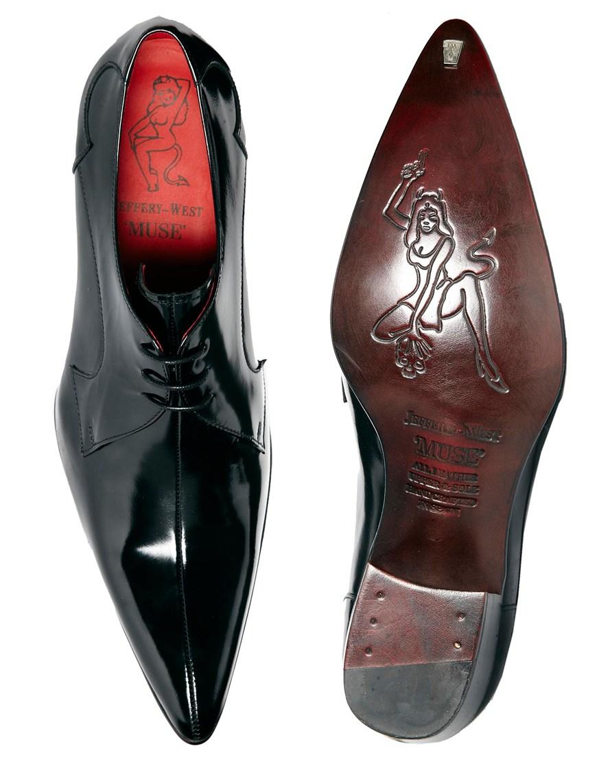 Jeffery West Cuban Heel Shoes in Black