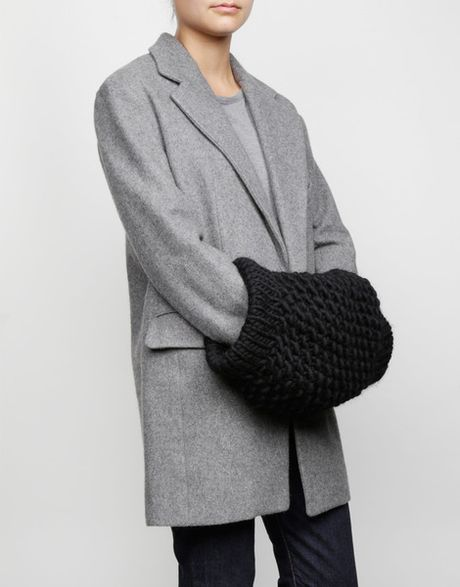 Wool and the gang lil 39 muffler in black cinder black lyst - Gang and the wool ...