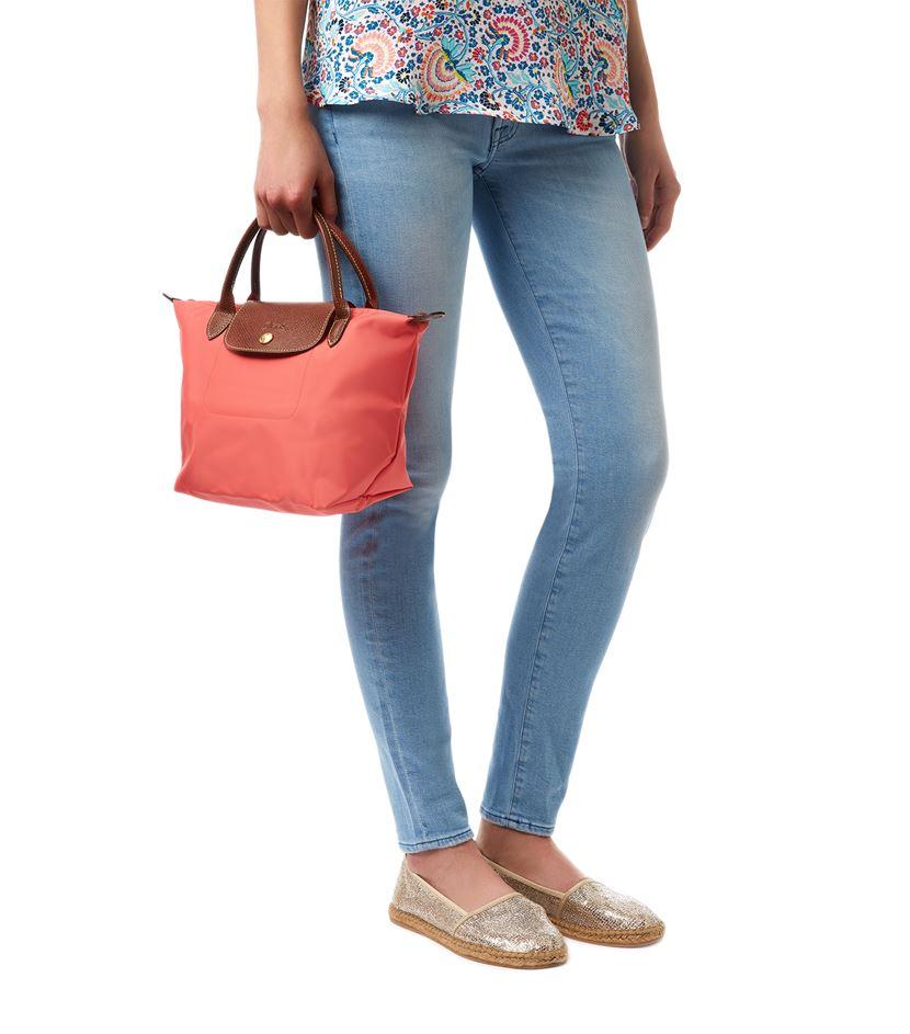61b24890fc3 Longchamp Le Pliage Small Handbag in Red - Lyst