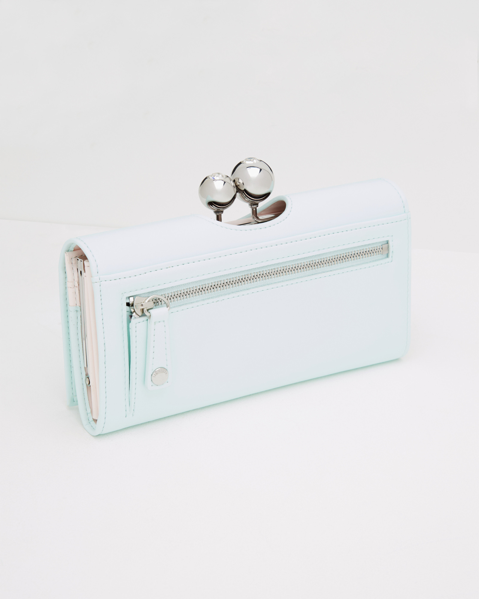 1b44c3c1b55 Ted Baker Green Leather Crystal Bobble Matinee Purse