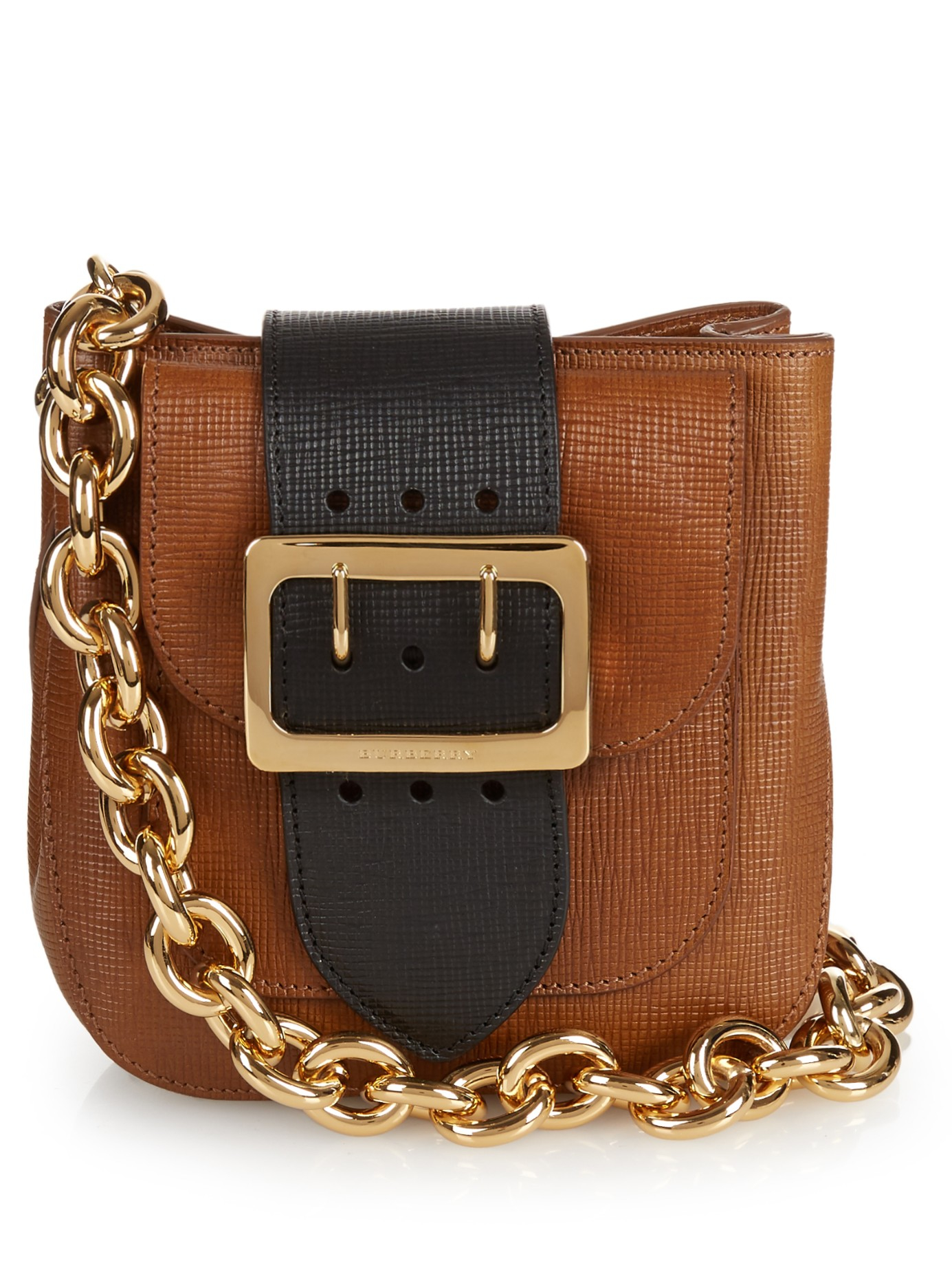 Burberry Prorsum The Belt Leather Shoulder Bag In Brown Lyst