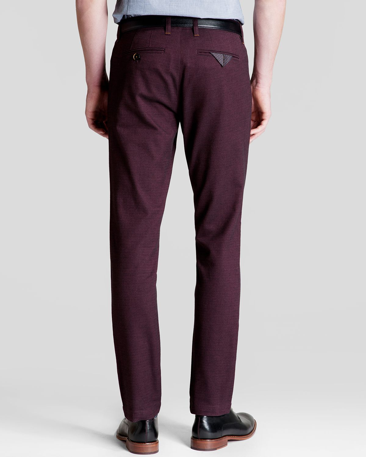 f13b28175 Lyst - Ted Baker Ketrikn Chino Pants - Slim Fit in Red for Men