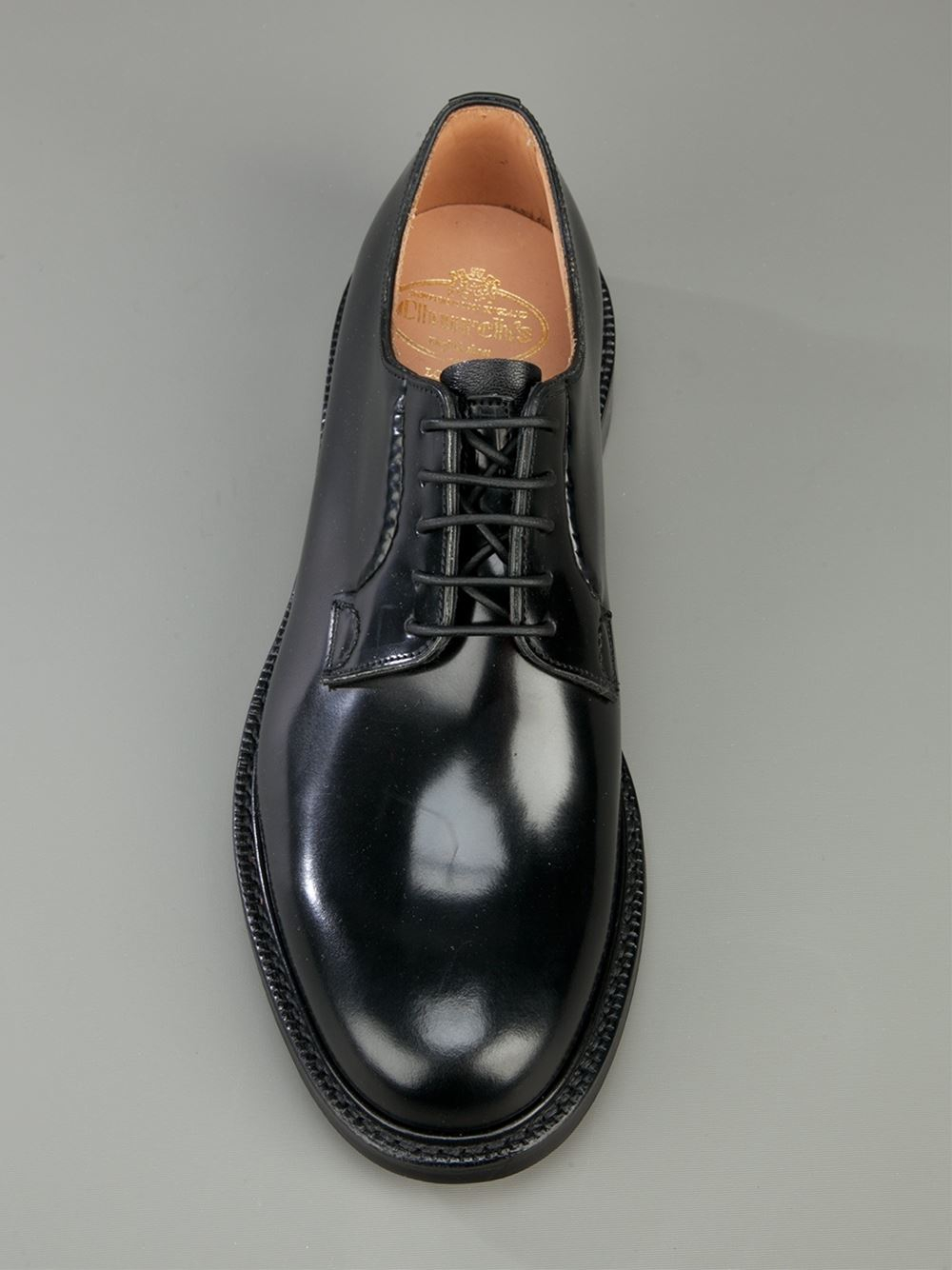 church s shannon shoe in black for lyst