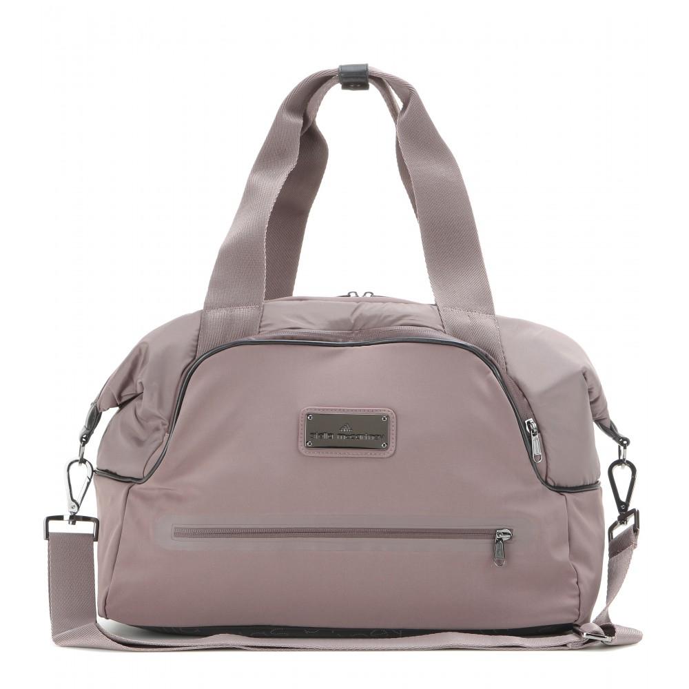 Lyst - adidas By Stella McCartney Iconic Small Gym Bag in Gray e589a5100f37b