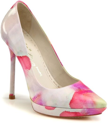 Alice + Olivia Danny Watercolor Patent Leather Pumps in ...