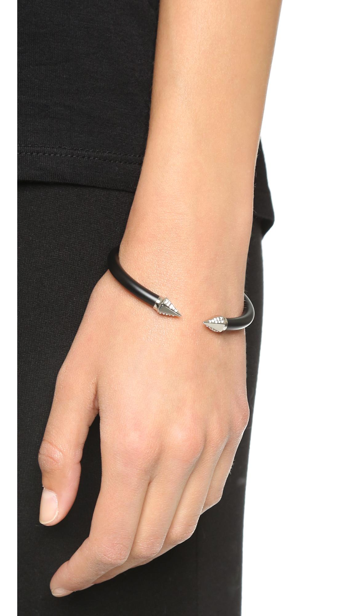 Vita Fede Mini Titan Two Tone Crystal Bracelet rZ31FW4YX