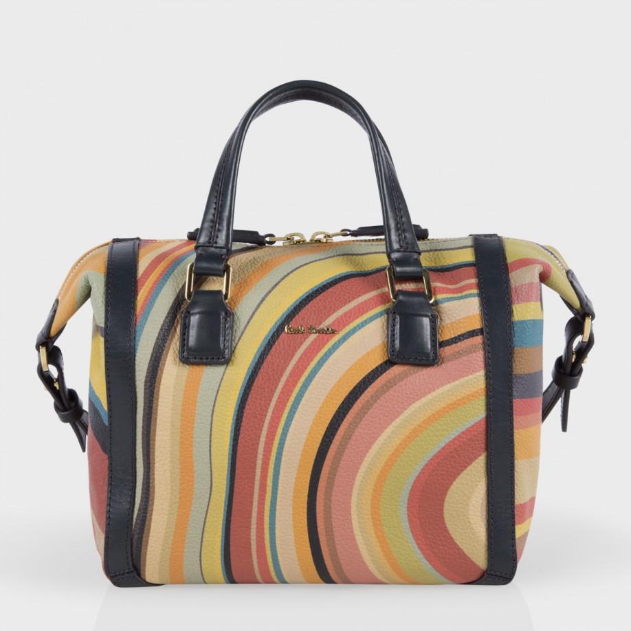 052688f0e0d4 Lyst Paul Smith Swirl Print Calf Leather Mini Ziggy Bag