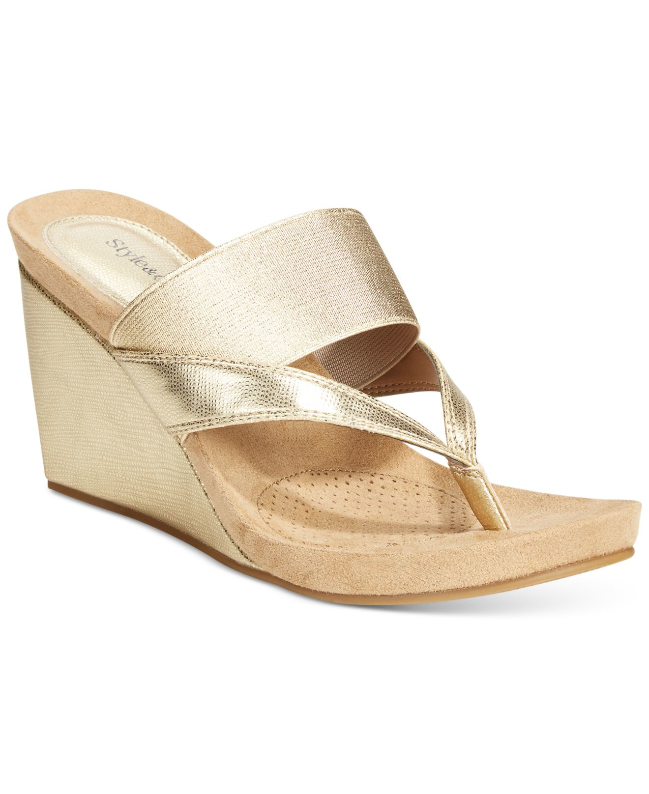 Style Amp Co Carlitaa Wedge Sandals Only At Macy S In