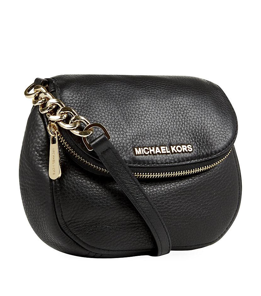 c0b29e5d7311 ... coupon michael michael kors bedford flap crossbody bag in black lyst  41933 0a778