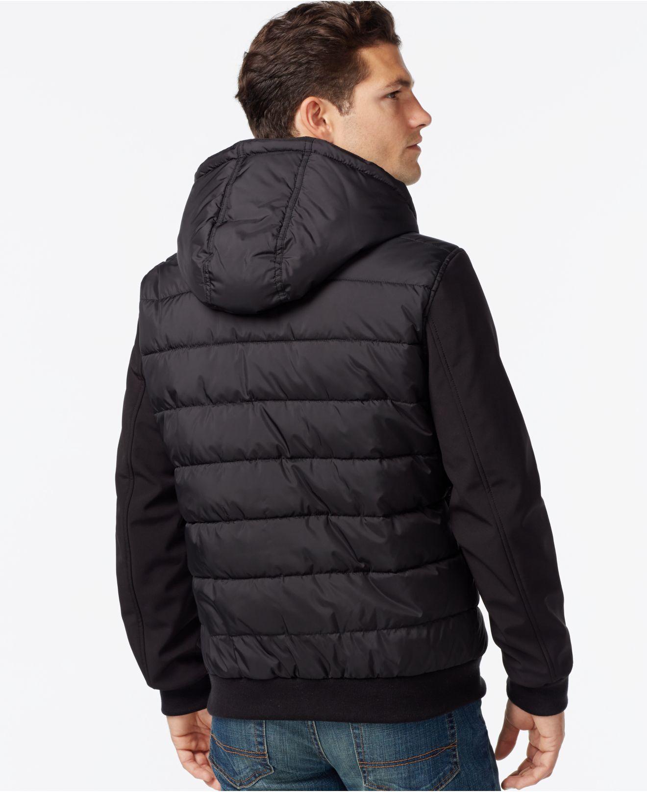 62b8e88c6 Tommy Hilfiger Big & Tall Softshell Puffer Jacket in Black for Men ...