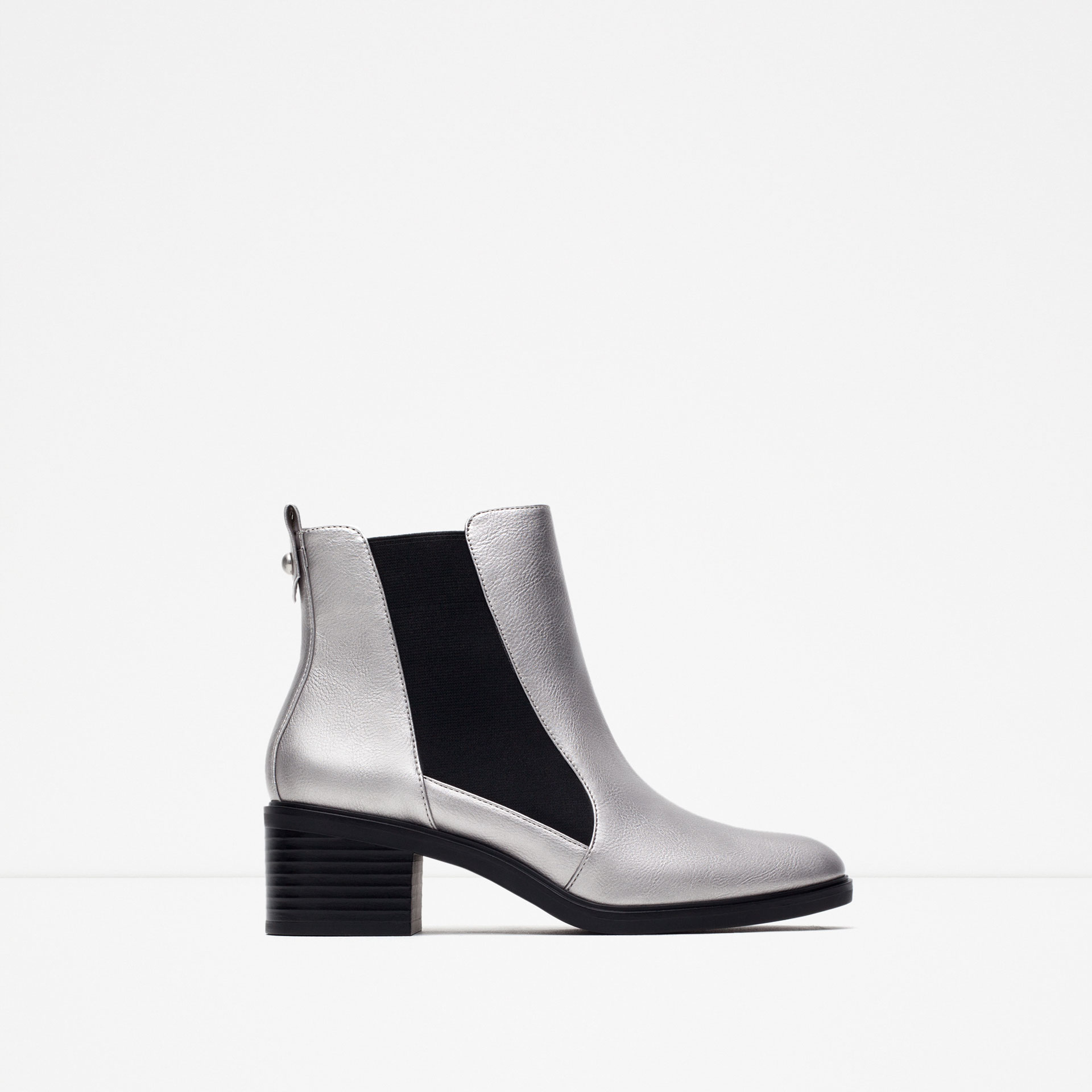 Silver Boot Heels