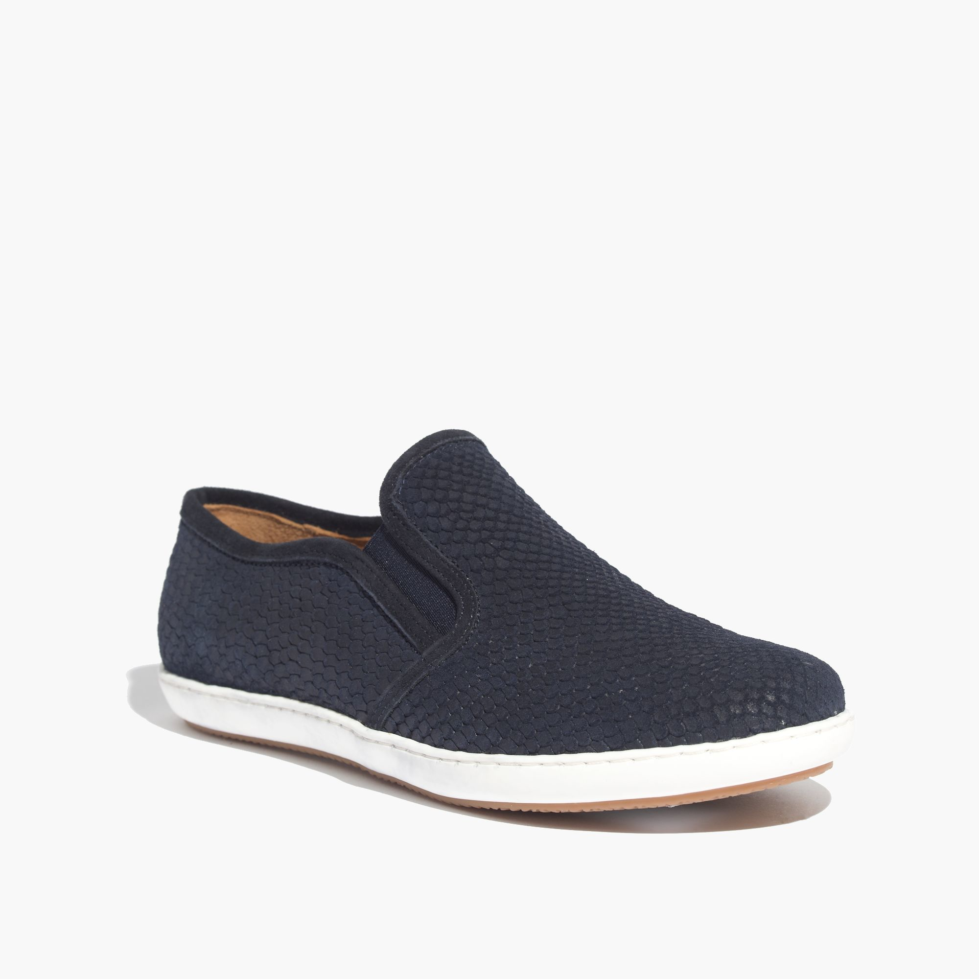 Madewell Et Sézane® Leather Slip-on Sneakers in Deep Navy (Blue)