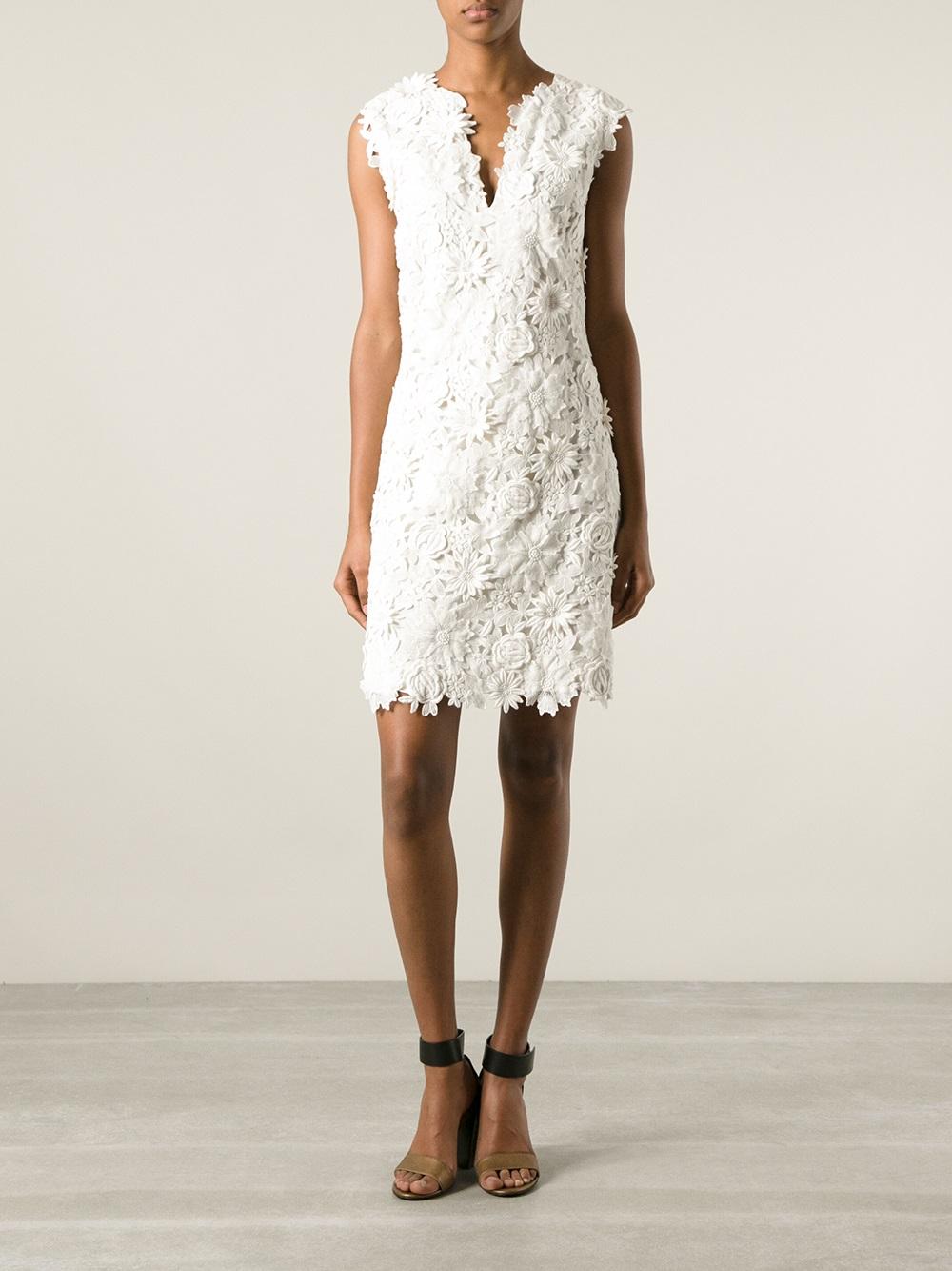 Lyst Tory Burch Merida Dress In White