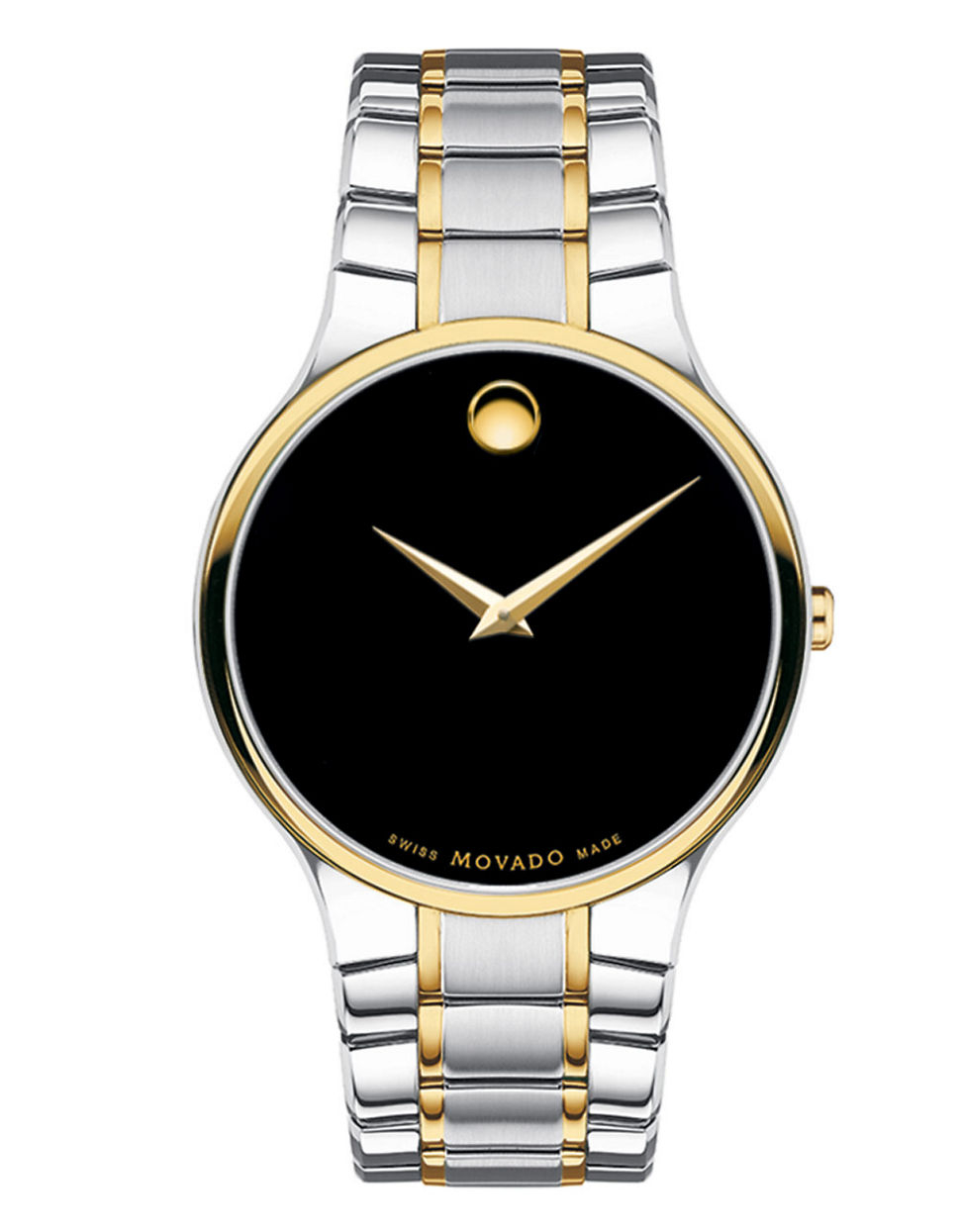 Movado Mens Serio Two Tone Watch In Silver For Men Black Lyst
