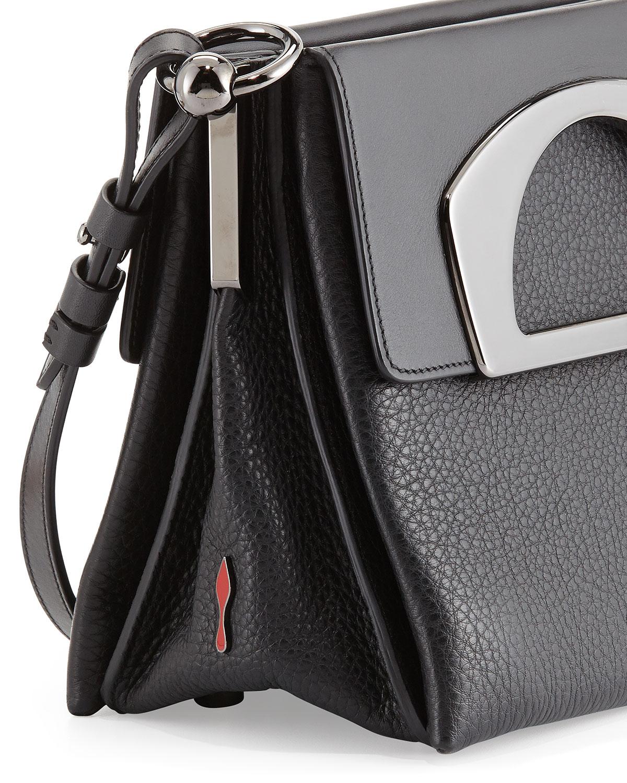8eb571d7708 Christian Louboutin Black Mini Passage Leather Crossbody Bag
