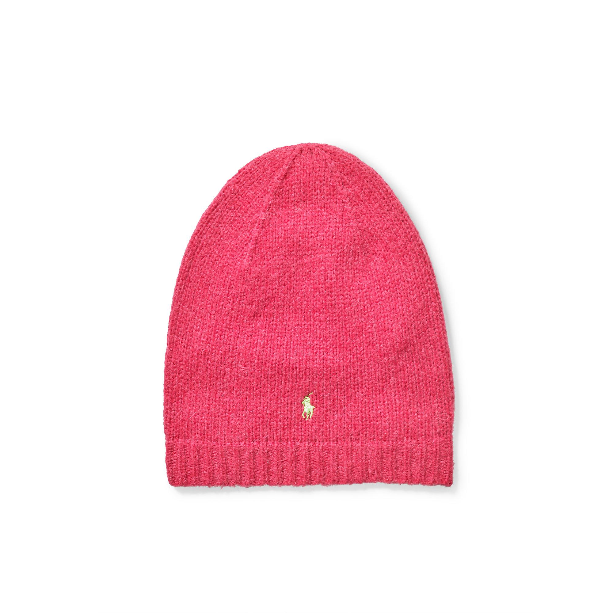 Lyst - Polo Ralph Lauren Slouchy Wool-blend Hat in Pink db8ec38fd