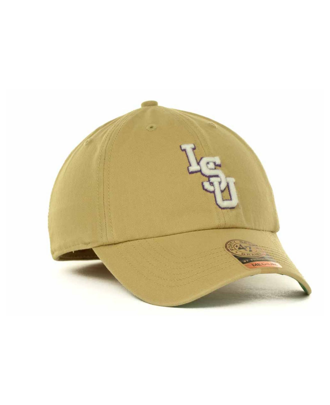 timeless design c07fa 46893 ... clearance lyst 47 brand lsu tigers khaki franchise cap in natural for  men c7cdc a5d80