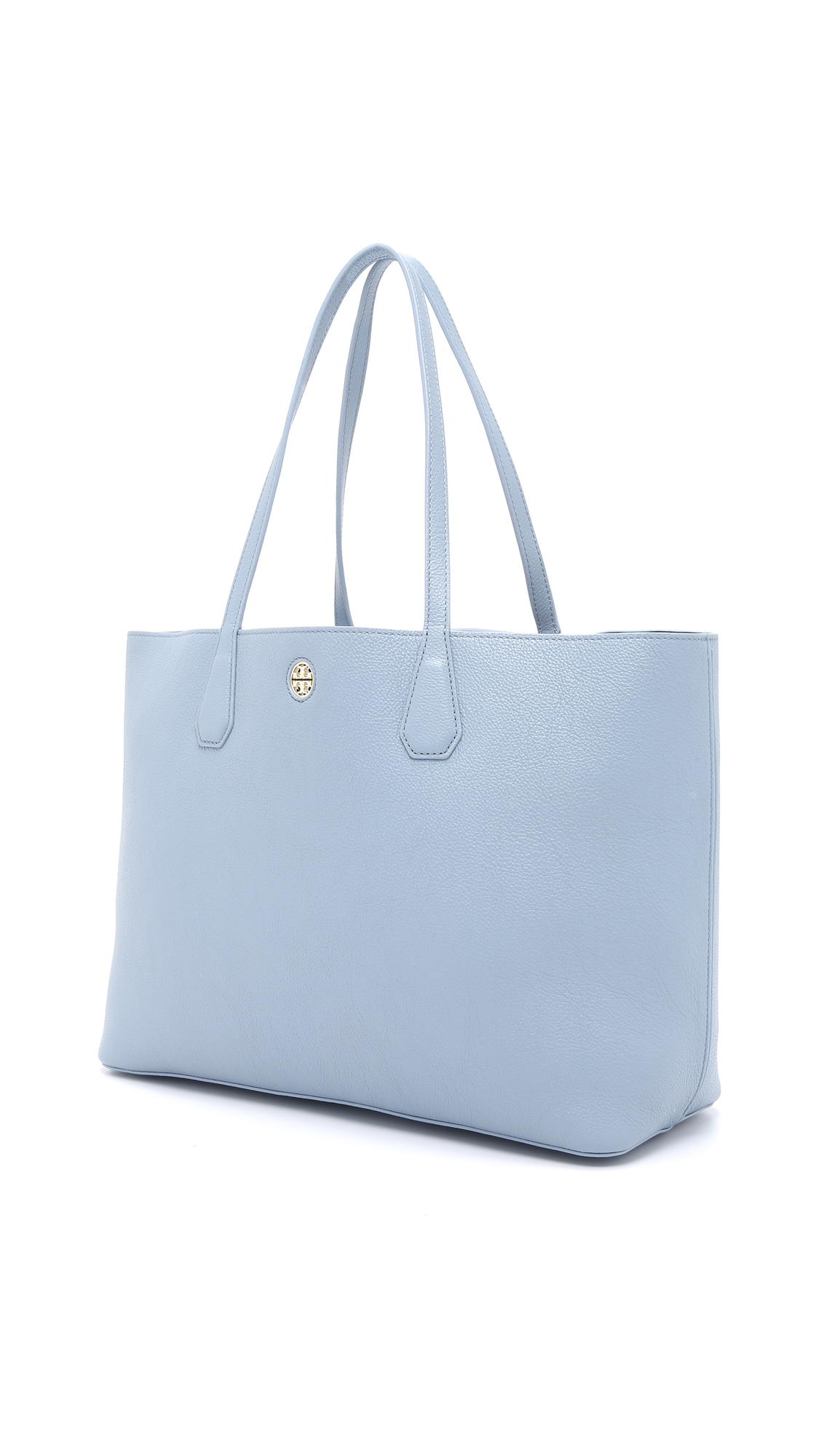 bd7917ab5336 ... italy tory burch perry tote cloud tory navy in blue lyst 6dad7 7c91e