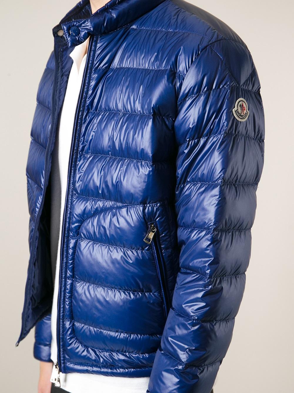 moncler blue padded jacket