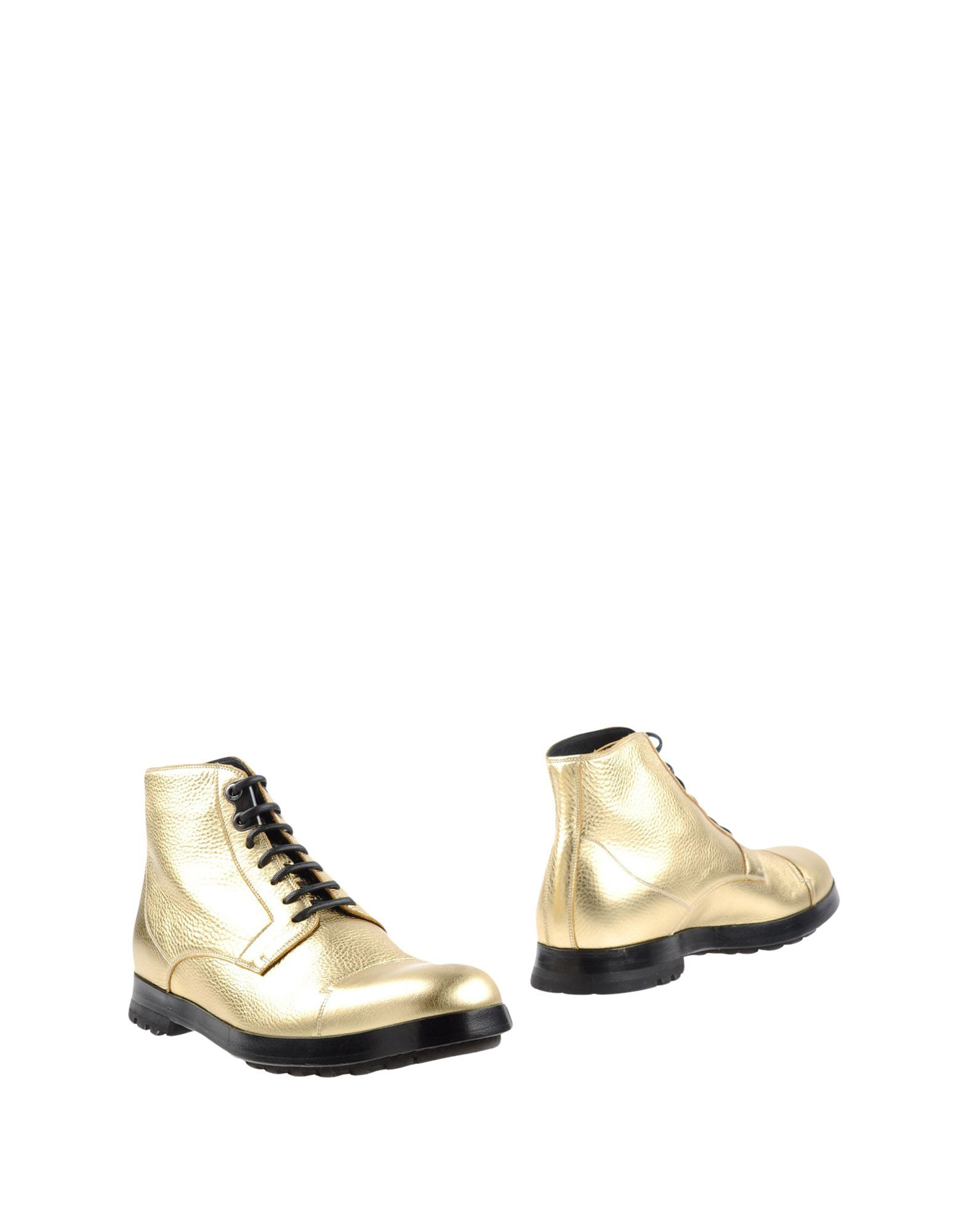 dolce gabbana ankle boots in metallic for lyst