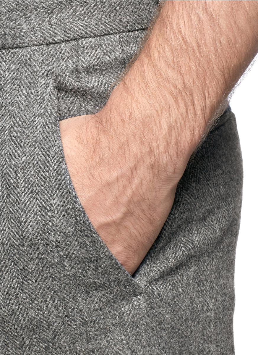 Haider Ackermann Herringbone Pants in Grey (Grey) for Men