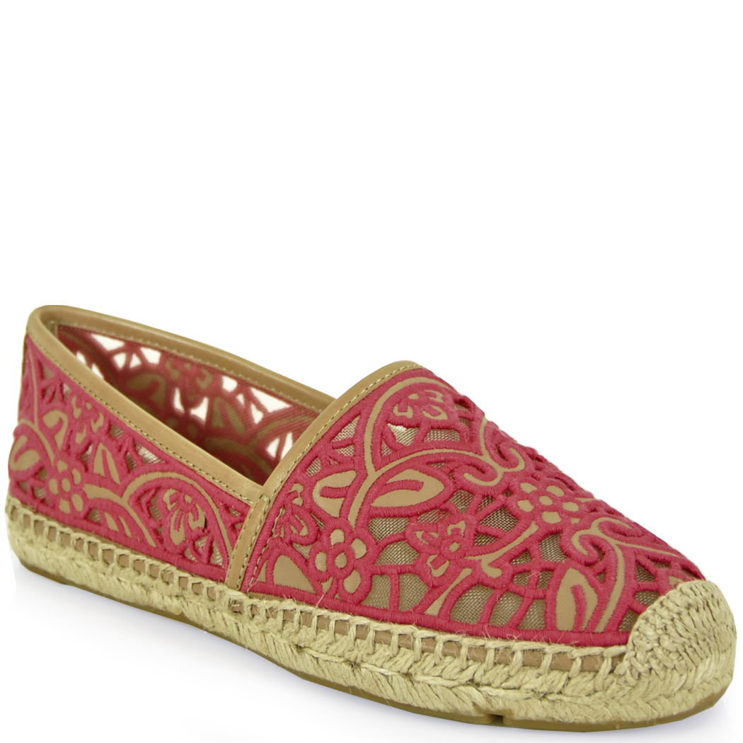 tory burch lace espadrille in pink lyst