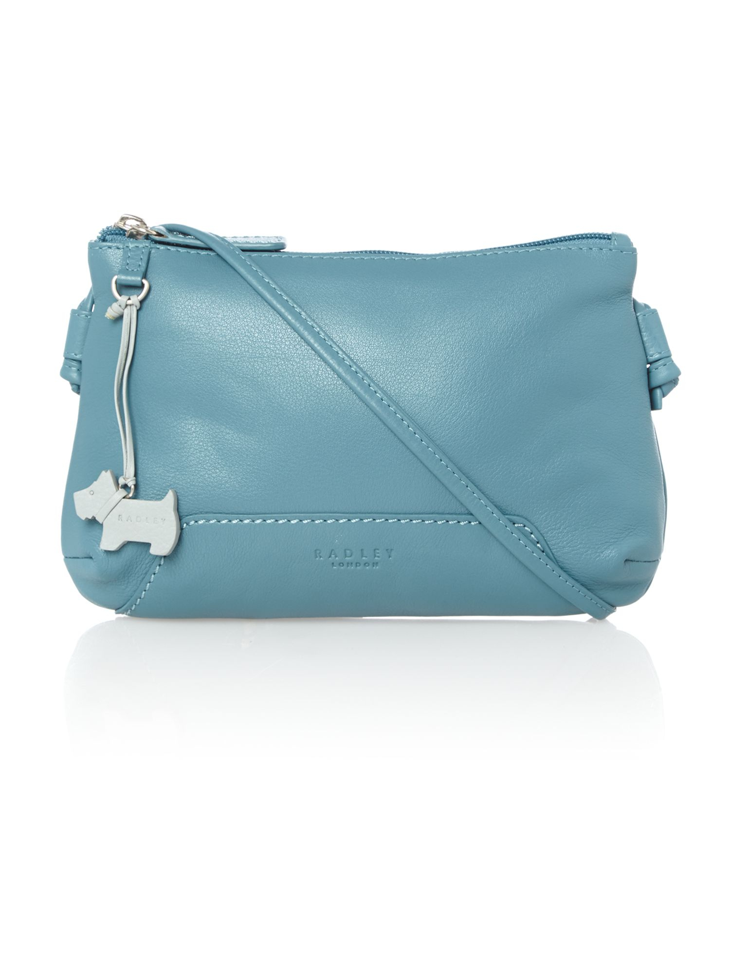 Radley Finsbury Small Ziptop Xbody Blue Leather Bag in Blue