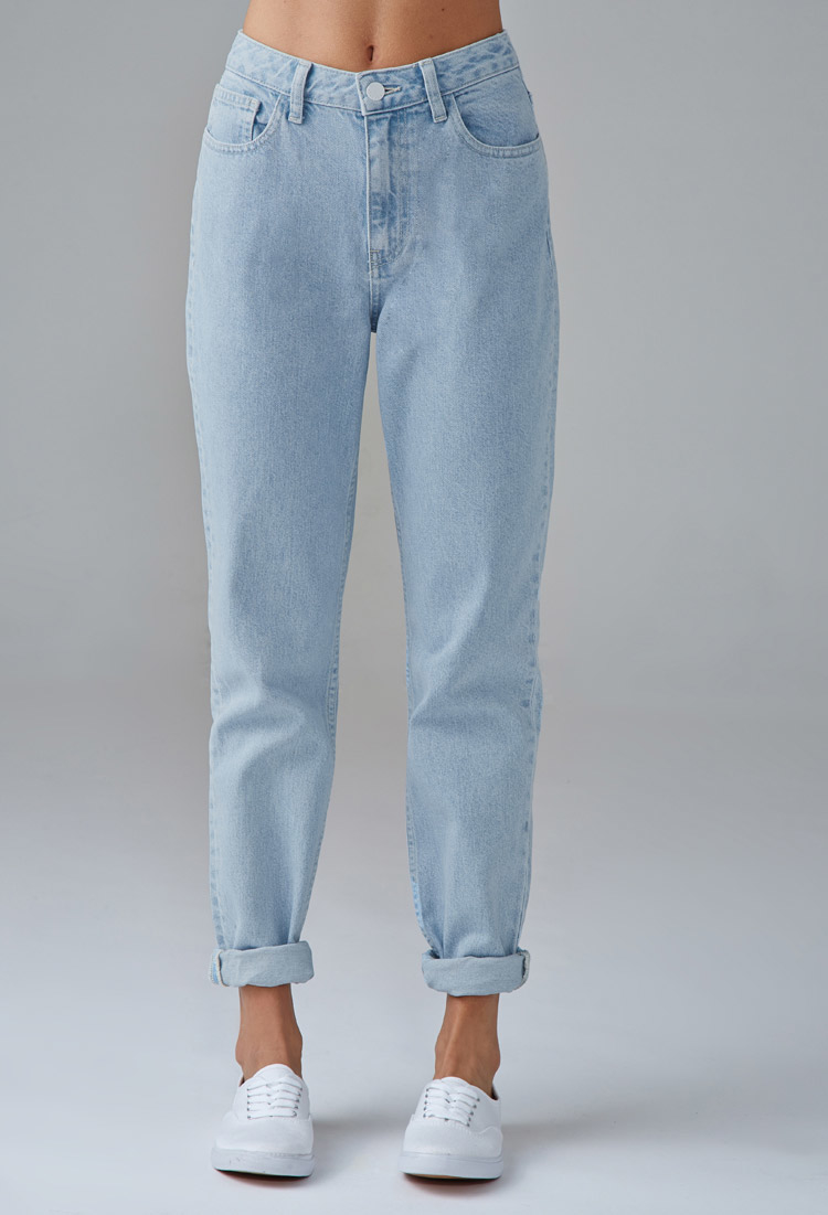 a9918a5491 Forever 21 Mom Jeans in Blue - Lyst