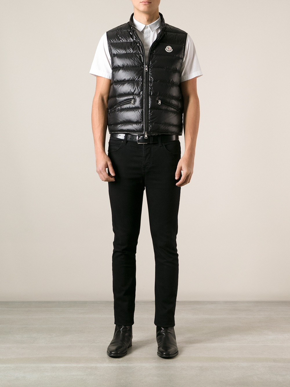 38291228b Moncler Black Gui Gilet for men