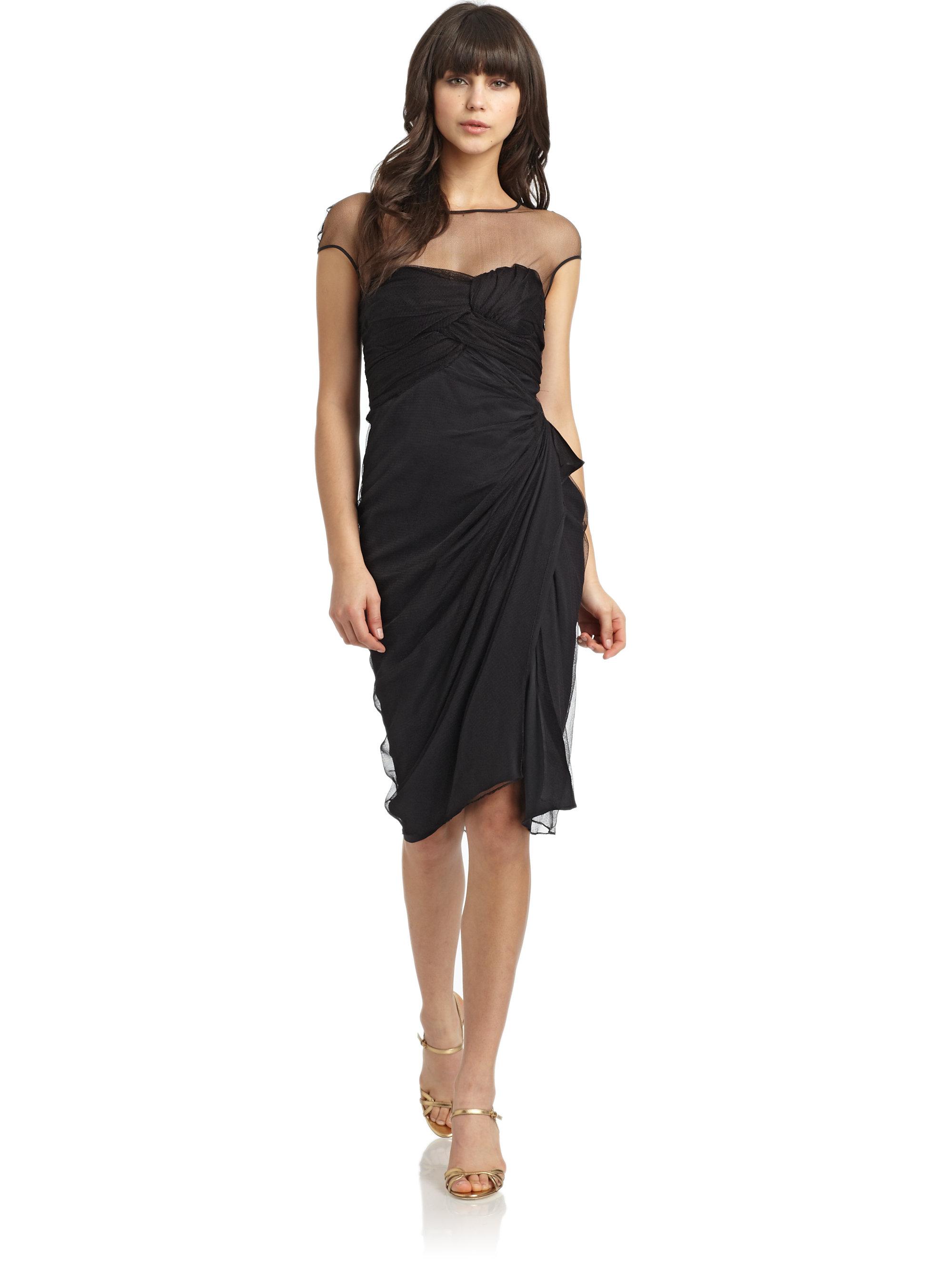 Black Silk Cocktail Dresses